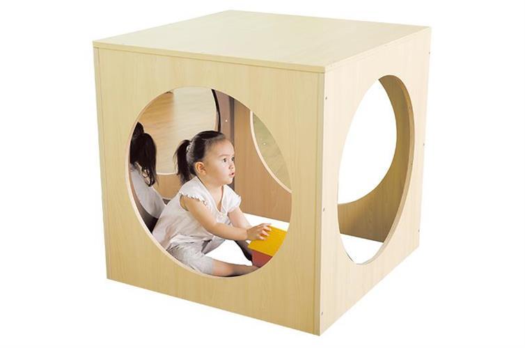 בית קוקו דגם קוביה עץ + מזרון + מראה