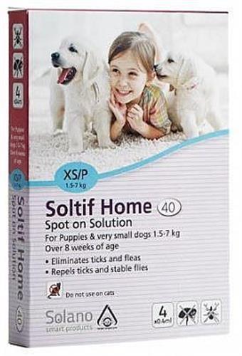"""אמפולות לגורי כלבים במשקל 7-1.5 ק""""ג סולאנו סולטיף"""