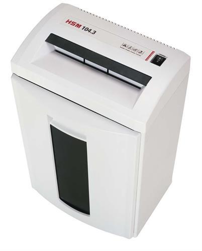 מגרסת נייר רצועות דגם HSM 104.3