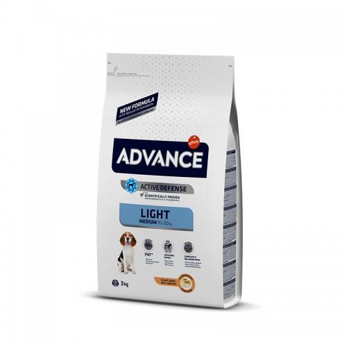 """8410650150406 מזון יבש לייט לכלבים בוגרים מגזע קטן ובינוני מבוסס עוף 3 ק""""ג Advance"""