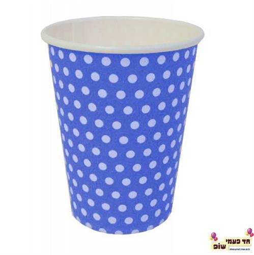 כוסות חמות כחול נקודות