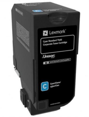 טונר כחול מקורי למדפסת 74C5SCE Lexmark CS-720,725 CX-725