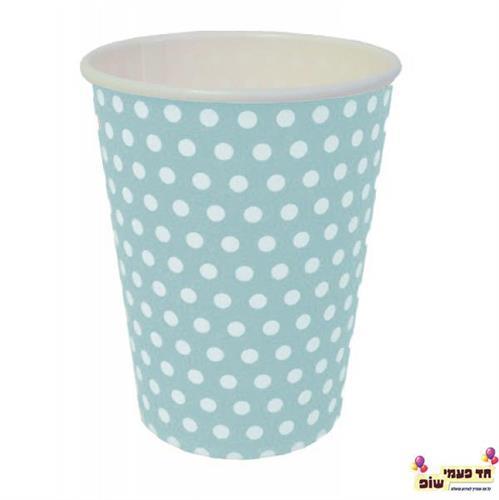 כוסות חמות תכלת נקודות