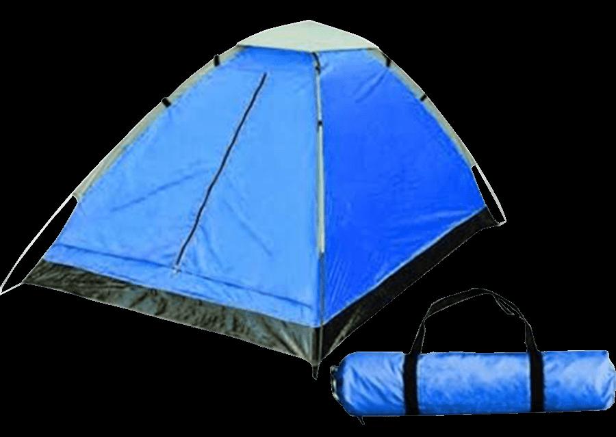 אוהל ל-4 אנשים CAMP&GO מבד ניילון עמיד במים