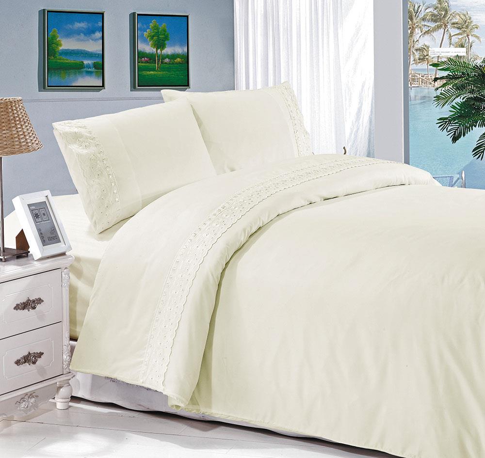 מצעים למיטת יחיד - רומנטקס GLORY צבע לבן