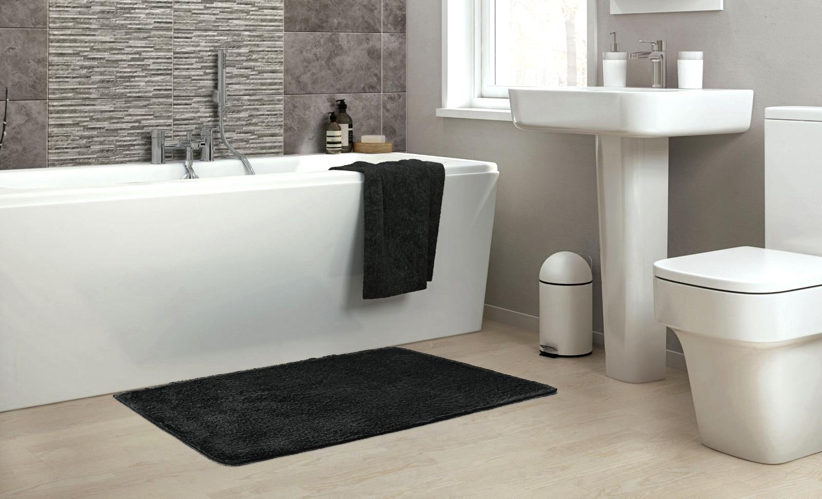 שטיח אמבטיה שחור דגם Soft סופט - נעים במיוחד!