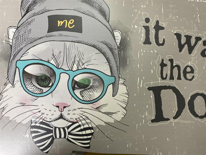 שטיחון מעוצב חתול לקערת שתיה / מזון