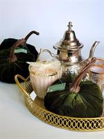 מגש זהב מראה להגשת תה