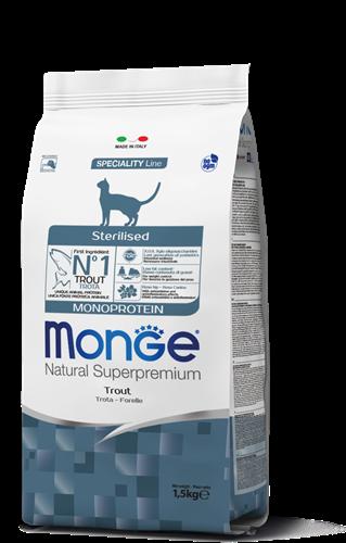 MONGE-  לחתול  מונו סטרילייז פורל  1.5 קג
