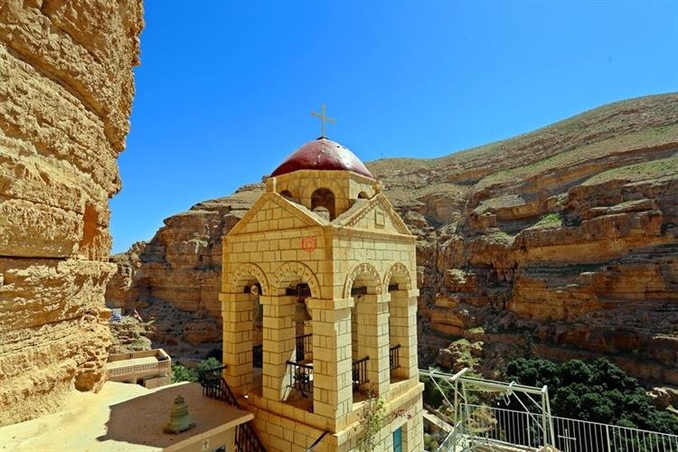 Support Israel and get this picture: Wadi Qelt, Monastery of St. George of Choziba