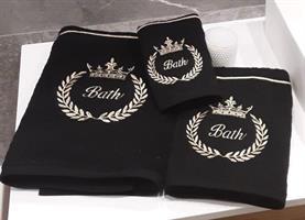 מגבות ידיים יוקרתיות רקומות 100% כותנה דגם - Crown