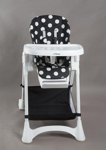 כסא אוכל מיניגו שחור לבן נקודות