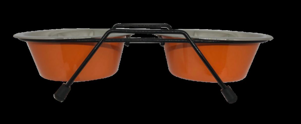 סט קערות מנירוסטה בנפח 0.45 ליטר (Black - Orange)