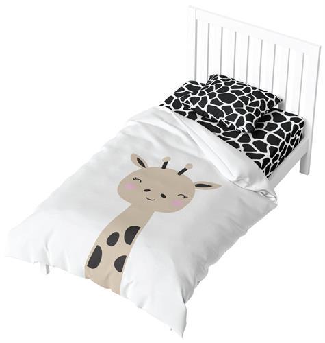 מצעים למיטת תינוק - ג'ירף 100% כותנה
