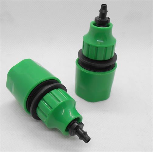חיבור מהיר לצינור גינה  צינור קוטר פנימי כ 9 ממ כניסת כינור קוטר חיצוני כ 11.5 ממ מתאם לצינור 6 ממ