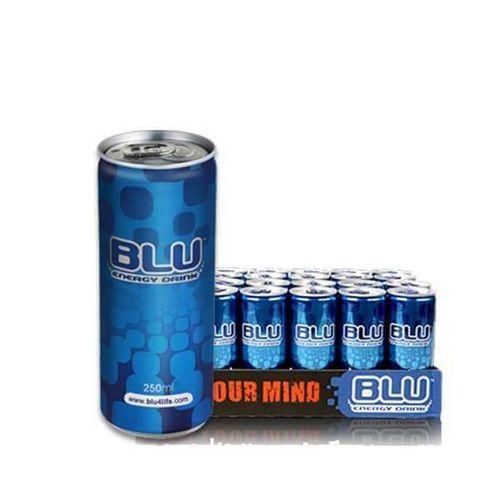 """משקה אנרגי BLU פחית 250 מ""""ל  1/24"""