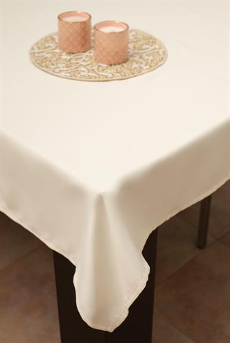מפת שולחן איכותית ועבה Cream -שמנת קרם חלק