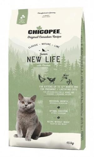 """צ'יקופי מזון יבש לחתול ניו-ליייף, 1.5ק""""ג"""