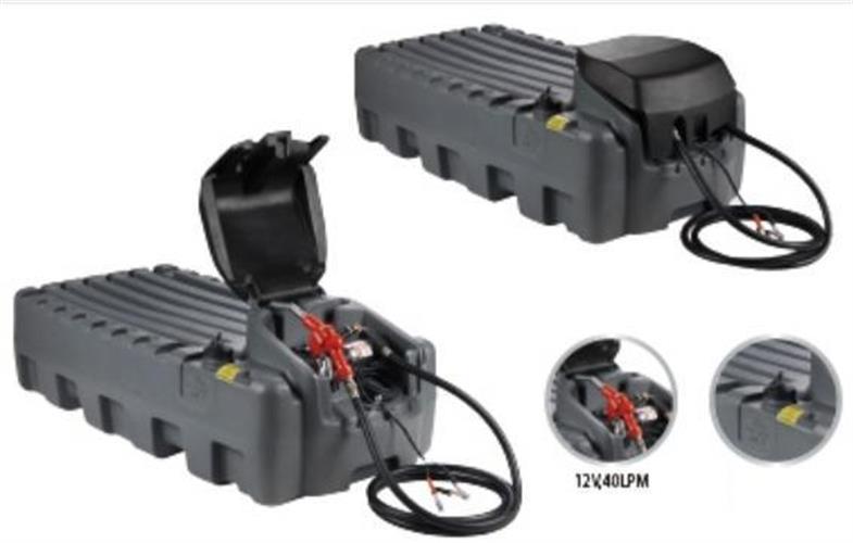 טנק מיכל סולר 400 ליטר מיכל מלבני לאספקת סולר לשטח עם משאבה  40 ליטר לדקה 12 וולט מובנית ואקדח מילוי
