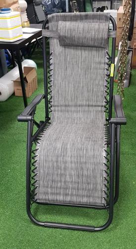 כיסא ימבה מצבים מתקפל צבע אפור שחור שיש