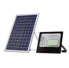 פרוז'קטור סולארי נטען 100W כולל פאנל סולארי גדול
