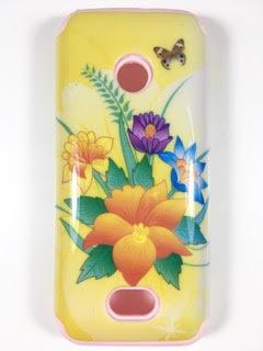מגן סיליקון כפול לנוקיה 208 NOKIA דגם 'פרחים'