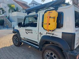 מיכל שטוח  צהוב עם ברז גר'יקן  דלק או מים  10 ליטר להתקנה בצידי  הגיפ והרכב