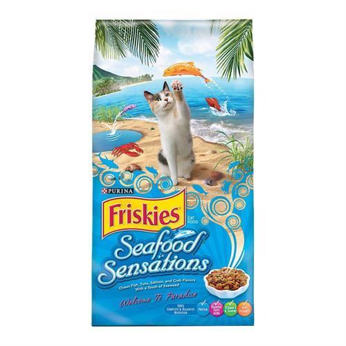 """מזון לחתולים פריסקיז מעדני הים Friskies Seafood Sensations 7.23 ק""""ג"""
