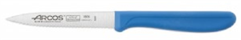 """סכין ירקות להב משונן באורך 10 ס""""מ ידית כחולה - מבית ARCOS המותג המקורי מספרד!"""