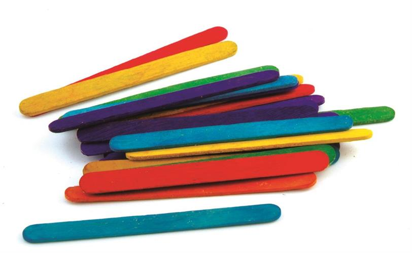 מקלות ארטיק צבעוני