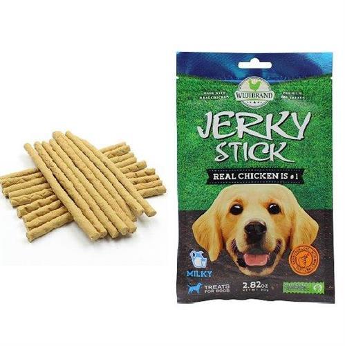 חטיף לכלבים ג'רקי מקלות חלב 80 גרם