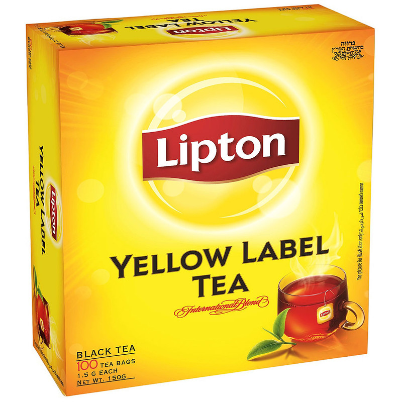 תה ליפטון ילו ליבל 100שק