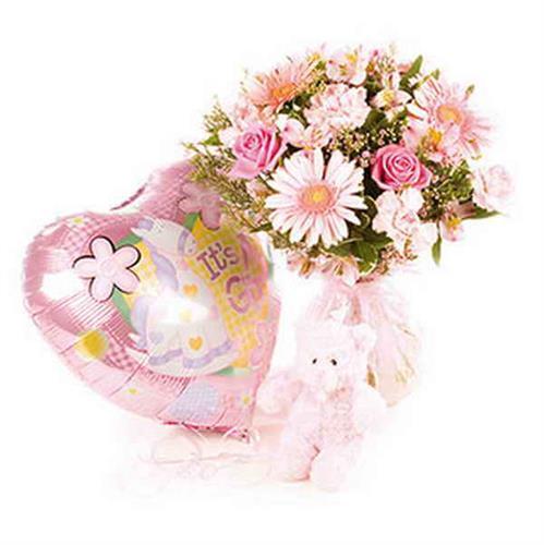 זר פרחים ללידה
