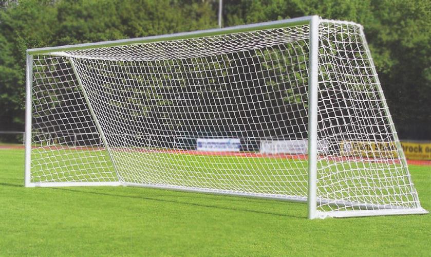 זוג שערים לכדורגל אלומניום 7 מטר עם גלגל גרירה