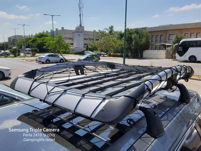 רשת להגנה להצמדה ולקשירת מטען לגגון הרכב 1.5 מטר 80 סמ