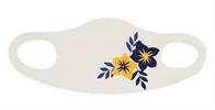 מסיכה פרחים כחול-צהוב