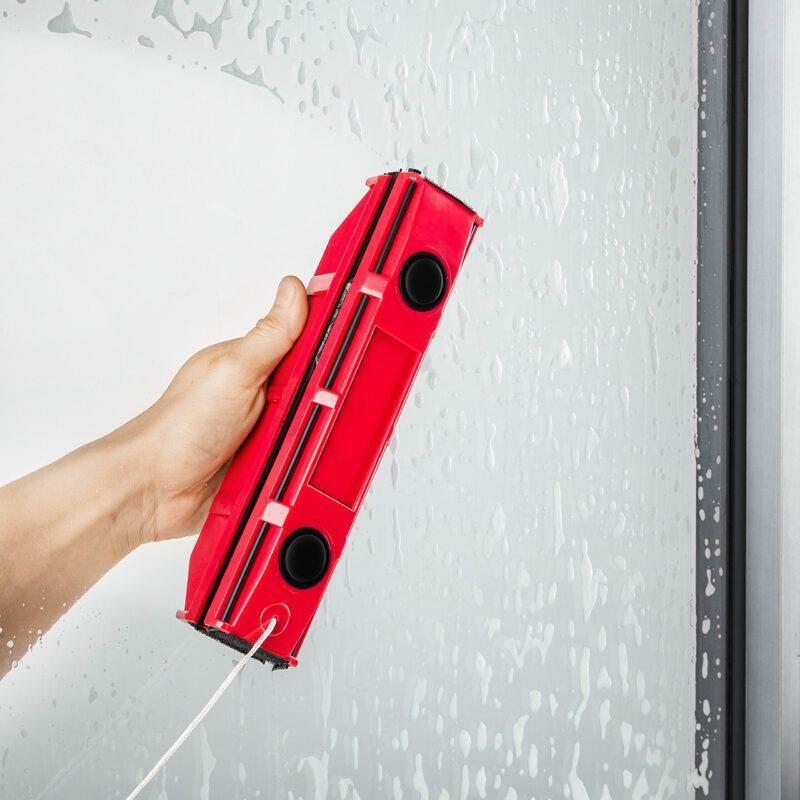 מנקה חלונות מגנטי – לחלונות בעלי זכוכית בודדת בעובי בין 2-8 מילימטר - דגם גליידר S1