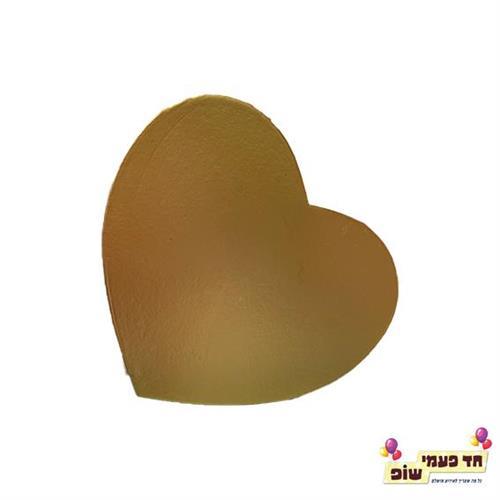 קופסא לב נפתחת זהב קטן