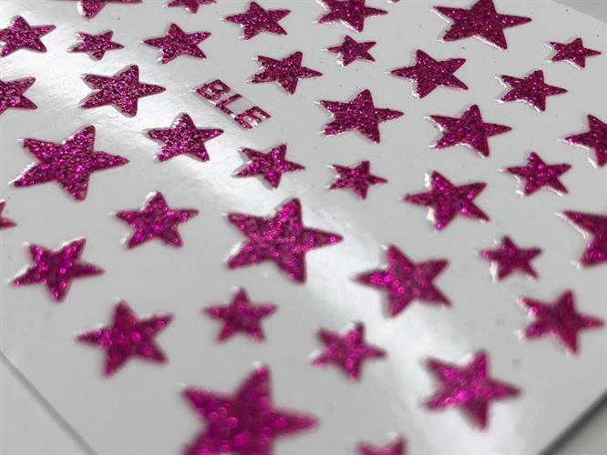 כוכבים מנצנצים- ורוד