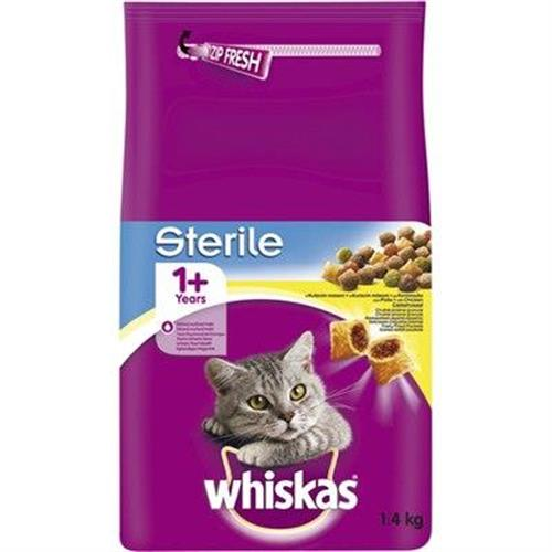 """מזון יבש לחתולים מבוסס עוף 1.4 ק""""ג Whiskas"""