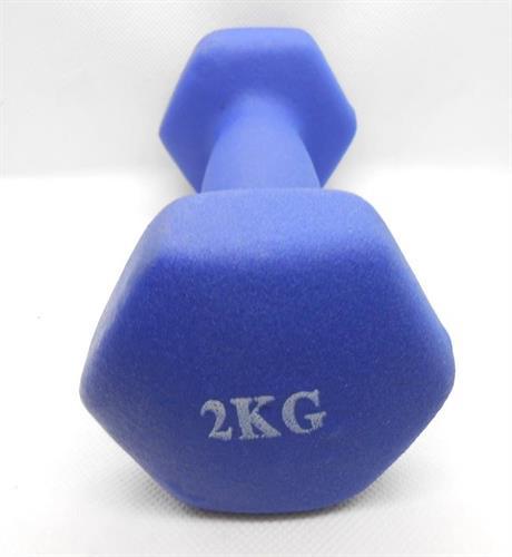משקולות משקולת יד לאימון גופני וכושר כללי לנשים וגברים 2 קג צבע כחול המחיר למשקולת בודדת