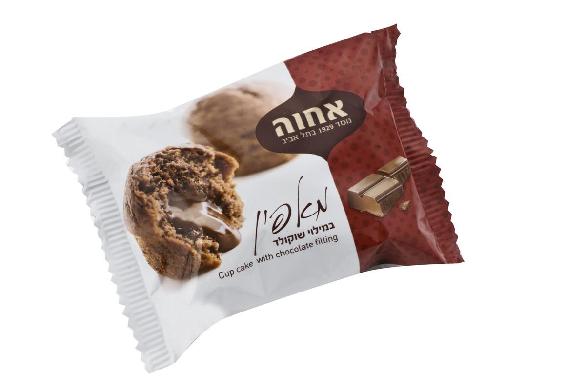 אחוה מאפין ממולא  שוקולד 50גרם 24 יח'