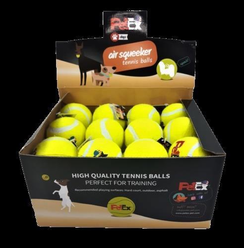 כדורי טניס מובחרים מבית פטקס בגודל של 4 אינץ עם צפצפה מובנית לגירוי ייצר המשחק בכלבים מגזע גדול