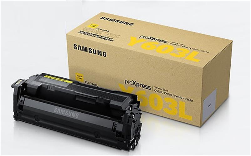 טונר מקורי צהוב סמסונג CLT-Y603L למדפסות SL-C4010ND SL-C4060FX