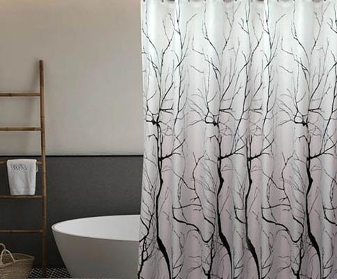 וילון אמבטיה מודפס דגם עצים - Trees