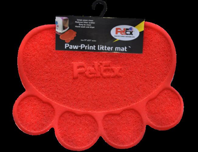 שטיח לחתול בצבע אדום פטקס