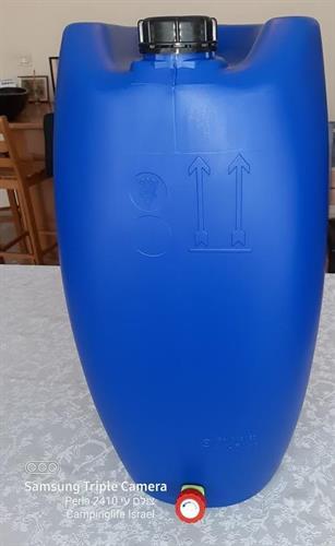 ג'ריקן מים 60 ליטר עם ברז ירוק