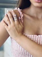טבעת כסף כוכבים - כסף אמיתי
