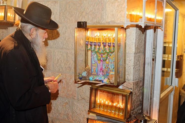 Support Israel and get this picture: Hanukkah Candles