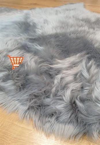 שטיח פרווה אפור כהה